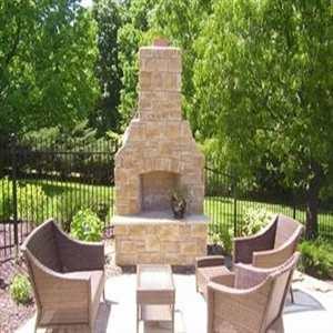 chimenea de jardín