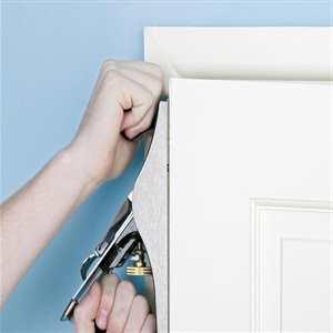 colocación de una puerta