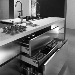 Práctica cocina de acero inoxidable